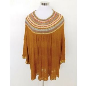Free People Vacation Pullover Sweater Mustard